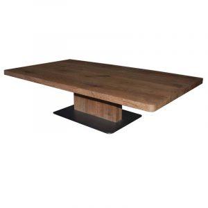 Couchtisch mit Stahlbodenplatte