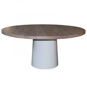 Grauer eichenholz Tisch